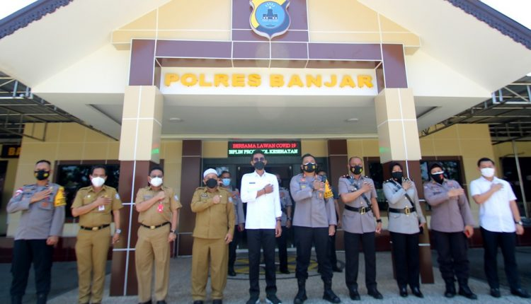 Silaturrahmi ke Polres Banjar, Saidi Mansyur Minta Pendampingan