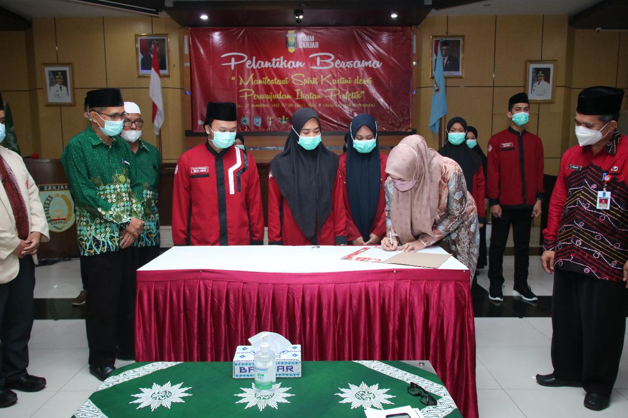 Ikatan Mahasiswa Muhammadiyah Kabupaten Banjar Resmi Dilantik