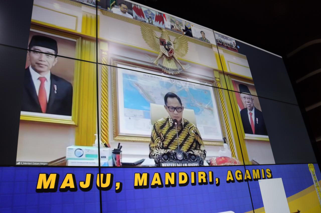 Kemendagri RI Gelar Rakor Kepala Daerah Dan Forkopimda se-Indonesia Secara Virtual