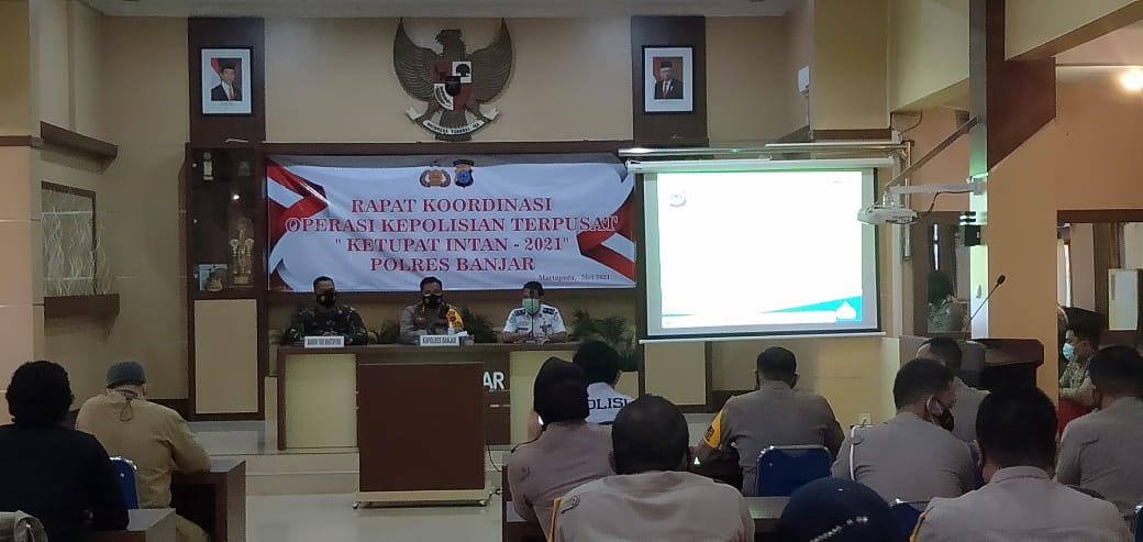 Polres Banjar Gelar Rakor Kesiapan Pelaksanaan Operasi Ketupat Intan 2021