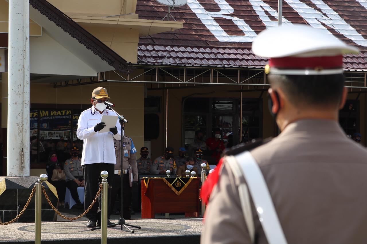Sekda Banjar Pimpin Apel Gelar Pasukan Intan 2021