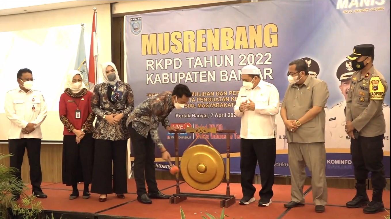 Bupati Banjar Buka Musrenbang RKPD Tahun 2022 Kabupaten Banjar